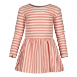 Metsola RIB Striped Dress, Strawberry - Ice