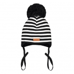 Metsola Knitted Baby Striped, Black