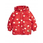 Mini Rodini Hearts Puffer Jacket, Red