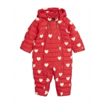 Mini Rodini Hearts Baby Overall, Red