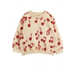 Mini Rodini Notes Sweatshirt, Beige