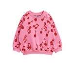 Mini Rodini Sweatshirt Notes, Pink