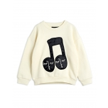 Mini Rodini Note Sweatfhirt, Offwhite