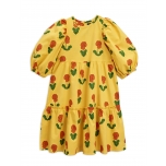 Mini Rodini Violas Puff Dress, Yellow