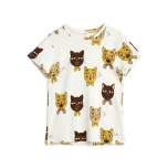 Mini Rodini Cat Choir T-shirt, Offwhite