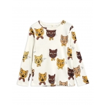Mini Rodini T-särk LS Cat Choir, Offwhite