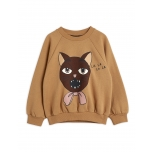 Mini Rodini Cat Choir Sweatshirt, Beige