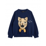 Mini Rodini Cat Choir Sweatshirt, Navy