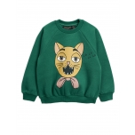 Mini Rodini Cat Choir Sweatshirt, Green