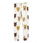 Mini Rodini Cat Choir Leggings, Offwhite