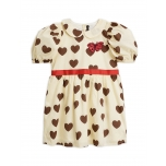 Mini Rodini Kleit Hearts Puff