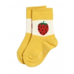 Mini Rodini Strawberry Sokid, Yellow