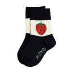 Mini Rodini Strawberry Sokid, Black