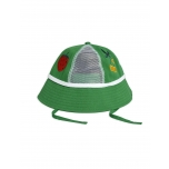 Mini Rodini Strawberry Mesh Sun Hat, Green