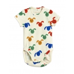 Mini Rodini Rabbit Body SS, Multicolor