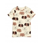 Mini Rodini Fluffy Dog T-shirt, Beige
