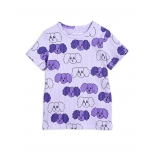 Mini Rodini Fluffy Dog T-shirt, Purple