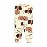 Mini Rodini Fluffy Dog Newborn Leggings, Beige