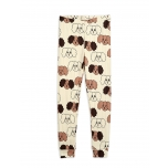Mini Rodini Fluffy Dog Leggings, Beige