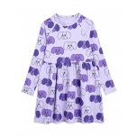 Mini Rodini Fluffy Dog Long Sleeve Dress, Purple