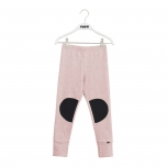 Papu Patch Leggings, Melange Pink/Black
