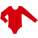 Raspberry Republic Velour Leotard Body Royal Ruby